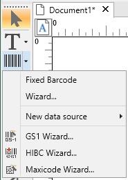 Specialized barcode generator wizards