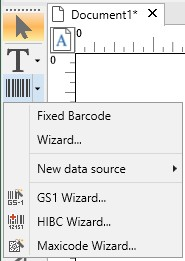 Specialized barcode generator wizards