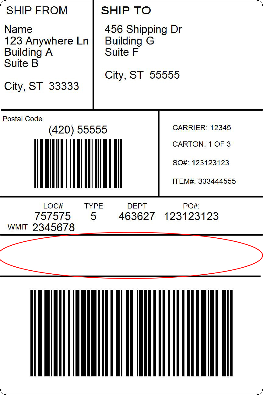 RFID Label with invisible RFID tag