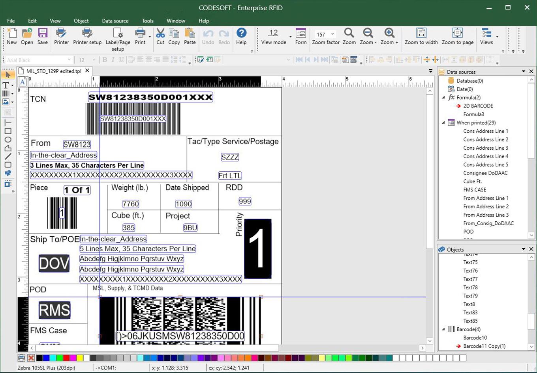 Logiciel d'étiquetage de codes-barres CODESOFT