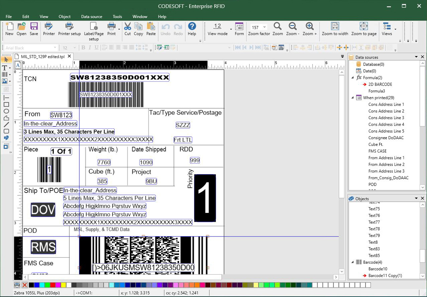CODESOFT barcode label software