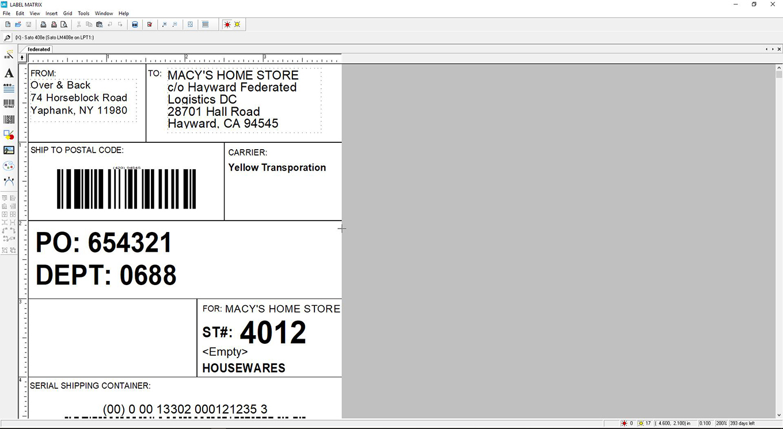 LABEL MATRIX 条形码标签软件