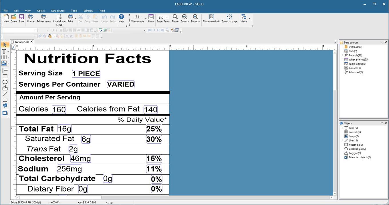 Software de etiqueta de código de barras LABEL VIEW