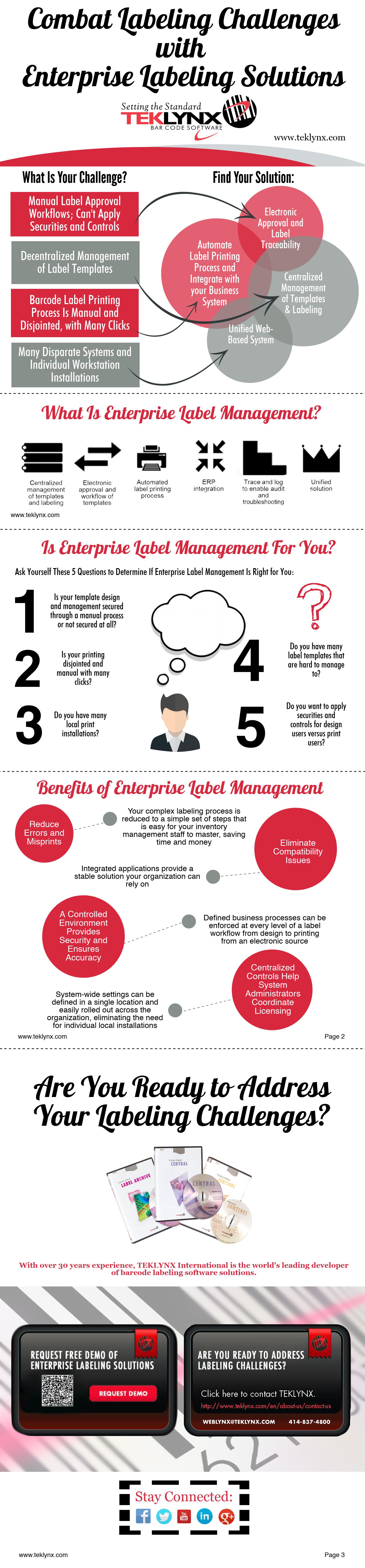 Infográfico: Combater Desafios da Etiquetagem com Soluções de Etiquetagem Corporativa