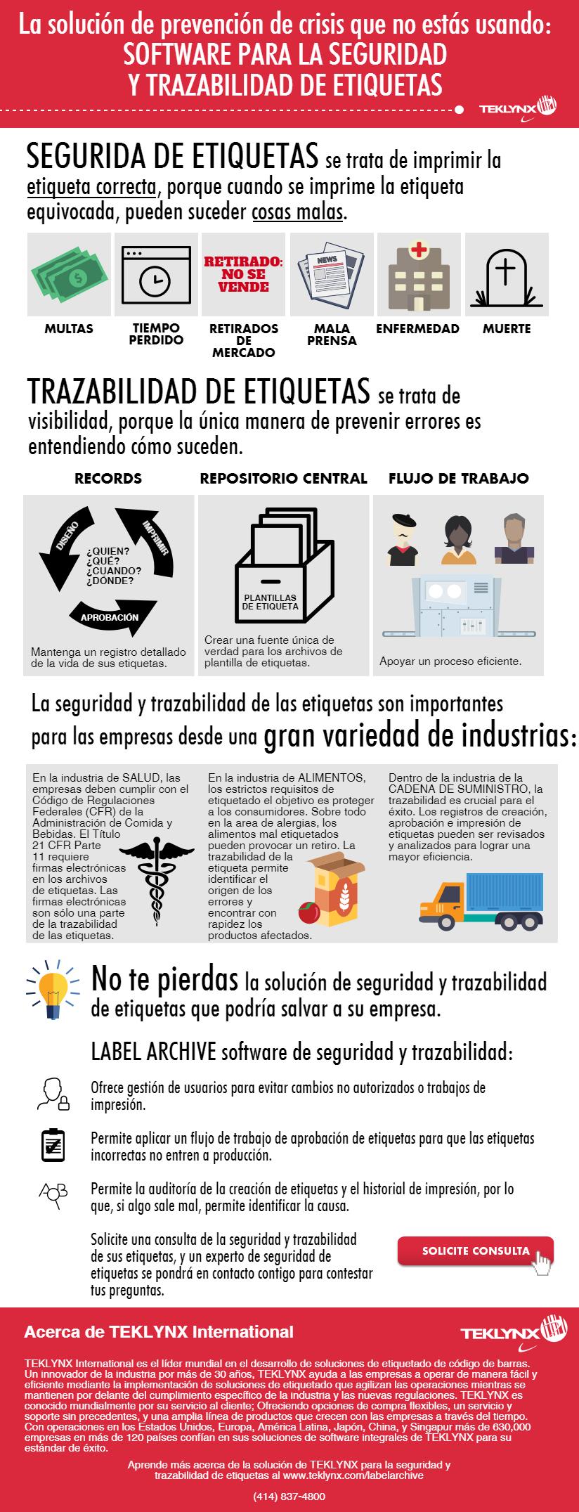 Infografía gratuita: Seguridad y Trazabilidad de Etiquetas